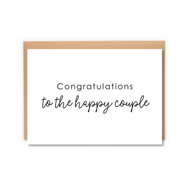 To The Happy Couple