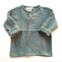 Cotton Linen Long Sleeve Top