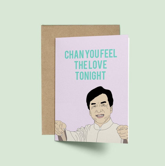 Jackie Chan, Chan You Feel Card