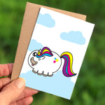 Cheeky Unicorn Mini Card