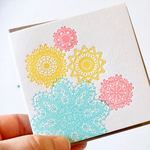 Colourful Lacey Shapes Card
