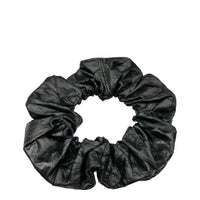 Leather Scrunchie Crushed