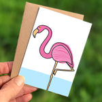 Flamingo Mini Card