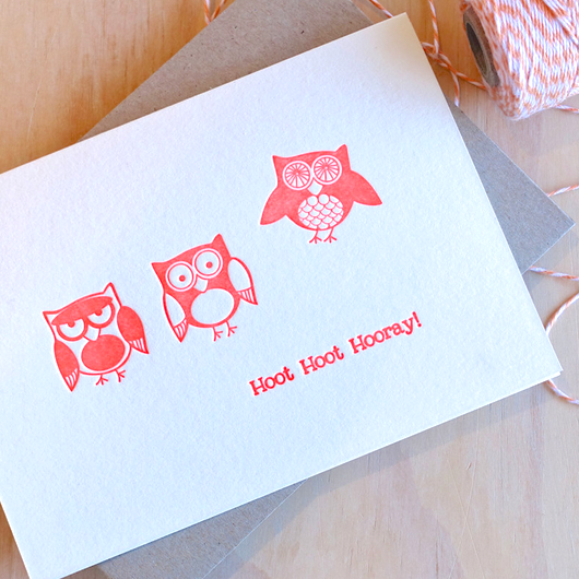 Hoot Hoot Hooray Card