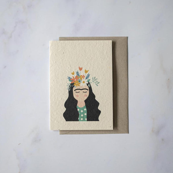 Frida Kahlo - Plantable Card