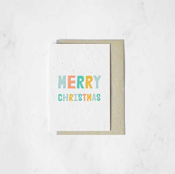 Merry Christmas - Plantable Card