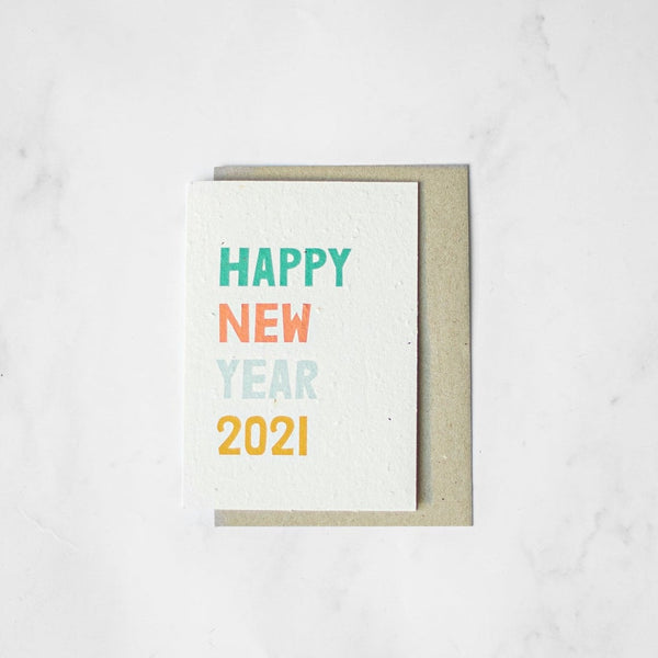 Happy New Year - Plantable Card