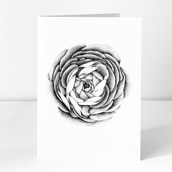 Ranunculus Art Card