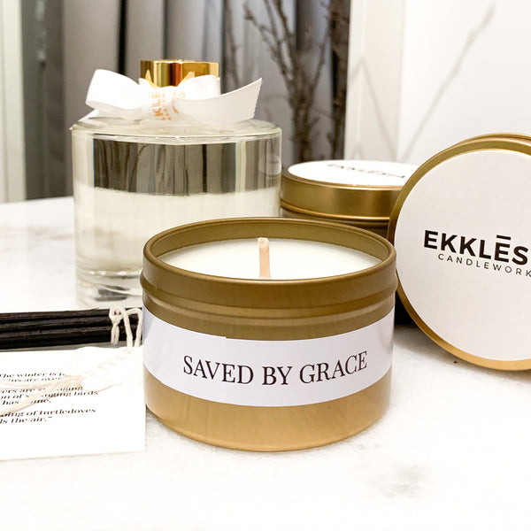 Saved by Grace Soy Candle Travel Tin