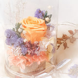 Small Rose Dome: Vintage Basket