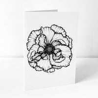 Poppy Art Card