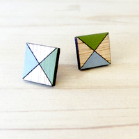 Laser Cut Wooden Studs Square