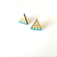 Laser Cut Wooden Studs Mountain