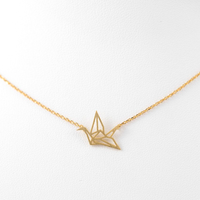 Paper Crane Pendant Necklace