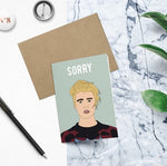 Justin Beiber, Sorry Card