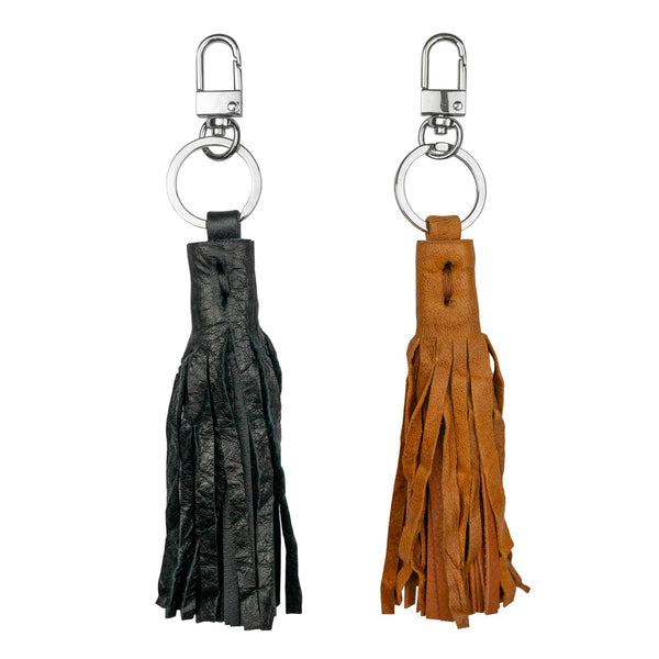 Crushed Leather Tassel