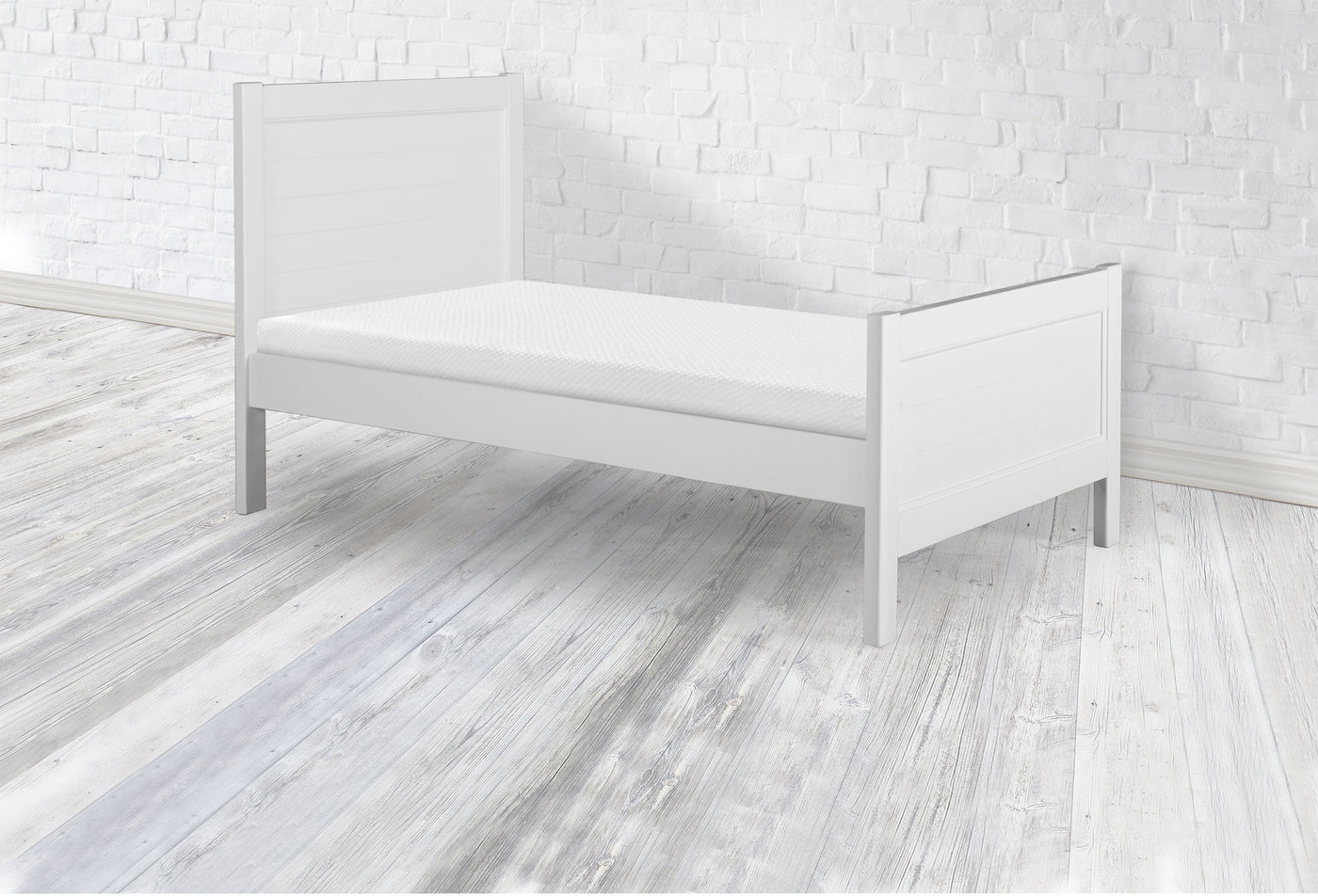 Twin Bed in White