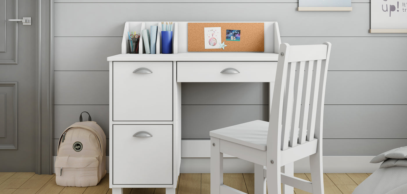 Childrens White Desk for Homeschool