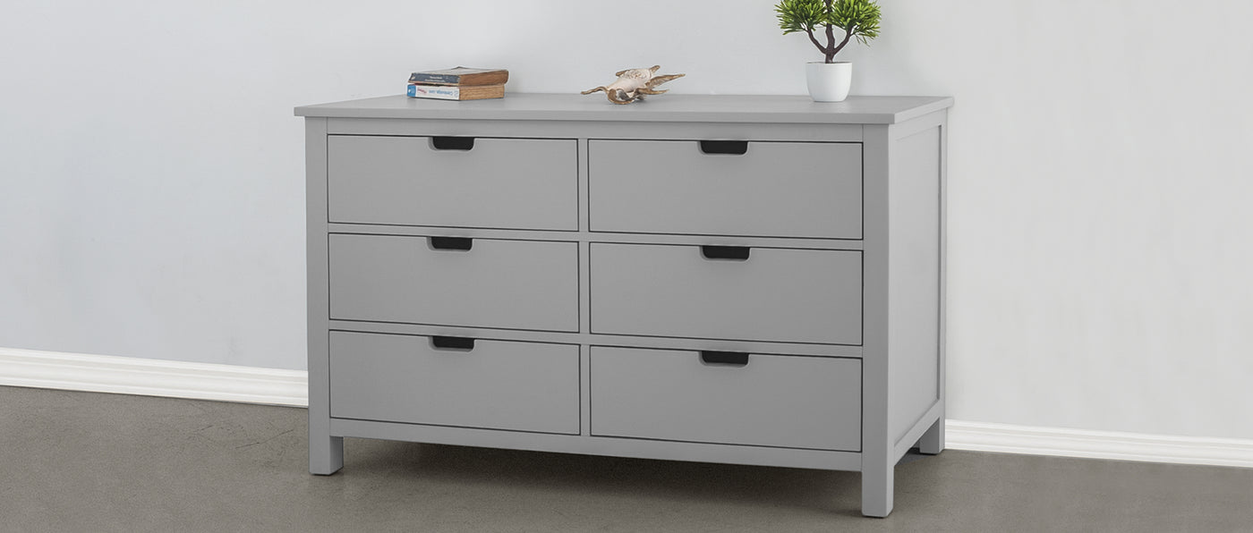 P'kolino Nesto Double Dresser - available in white or grey
