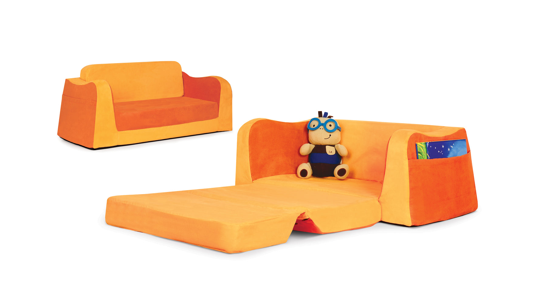 P'kolino Little Reader Sofa with cozy fold-out lounge.
