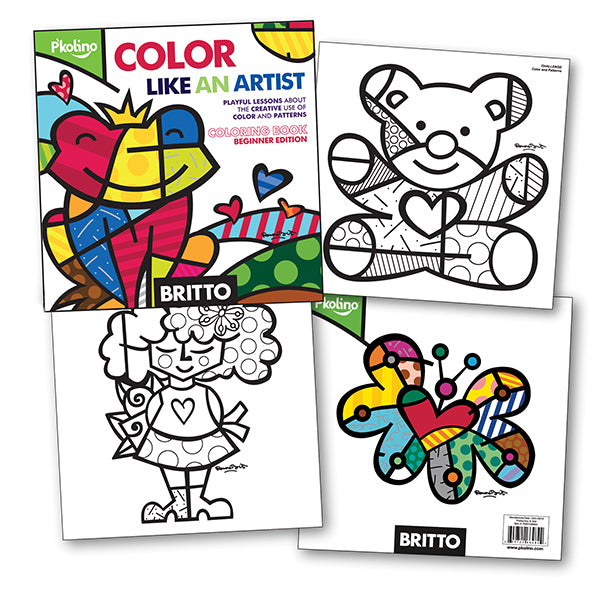 Britto Color Like an Artist Coloring Book