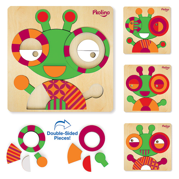 Multi-Solution Double Sided Puzzles