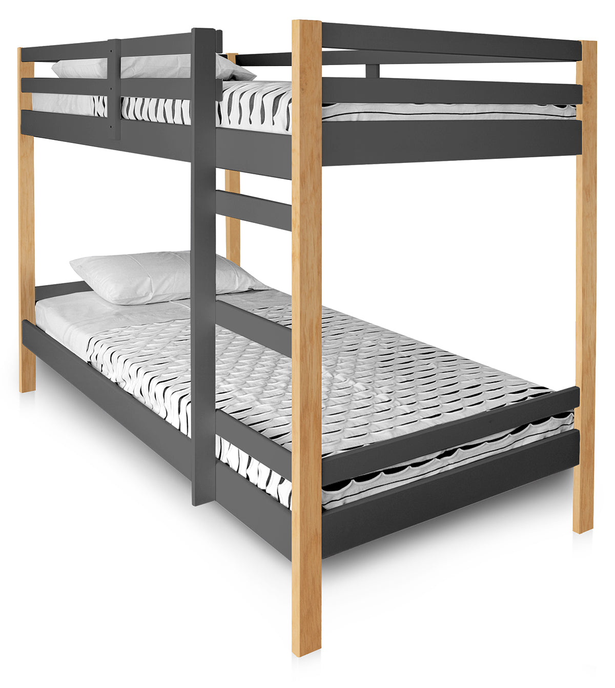 Letto Twin Bunk Bed - Stylish slumber is easily achieved with our Letto Twin Bunk Bed. Designed with durability in mind, it is made of pine wood and is available in 4 playful finishes.