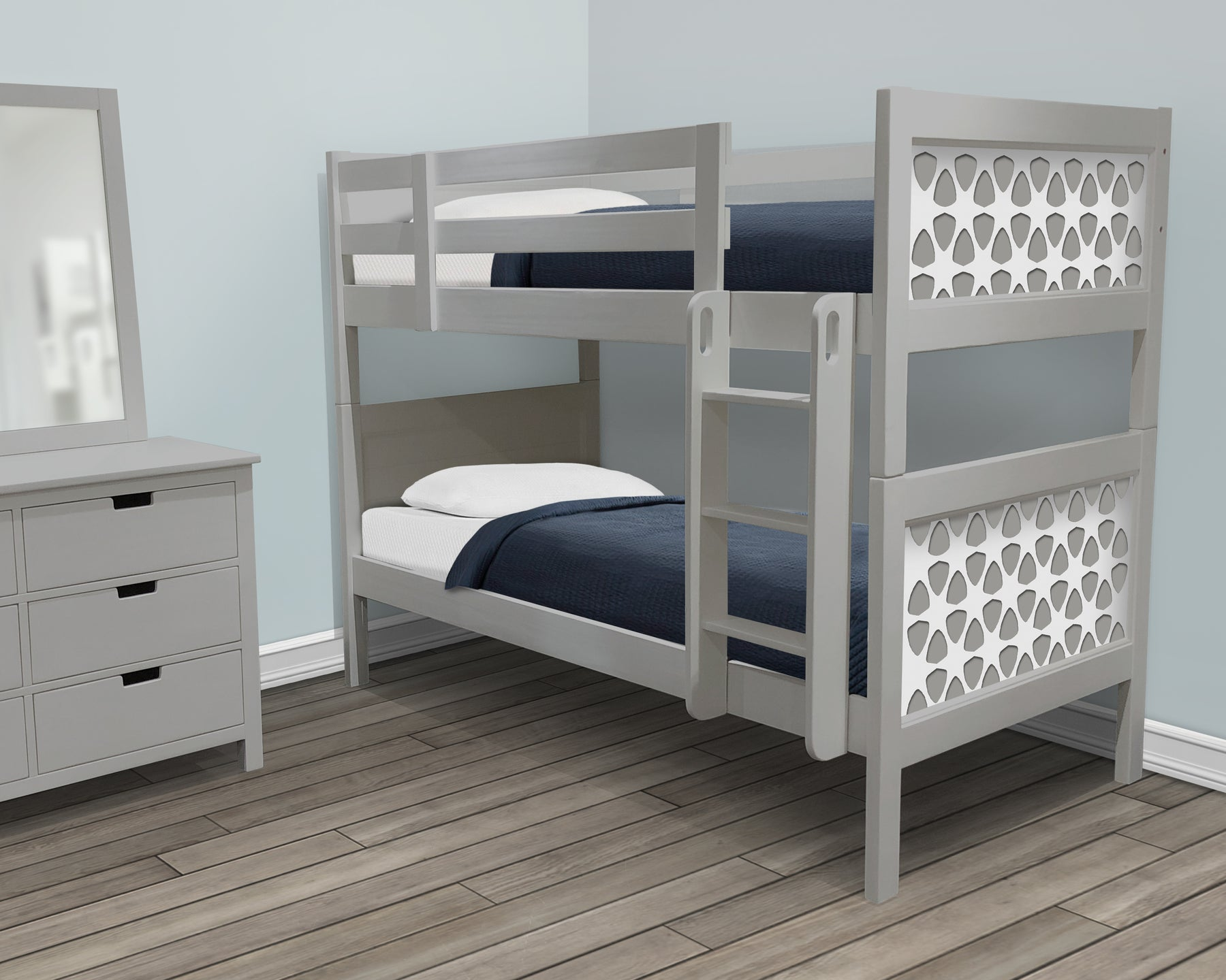 P'kolino Nesto Bunk Beds - Fully customizable beds. The no-nonsense design of our Nesto Collection was worth all the hard work when the result is a timeless look.