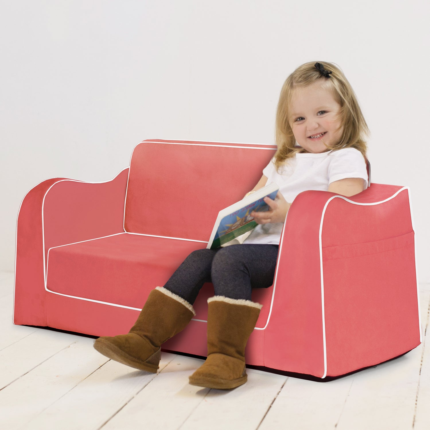 Little Reader Sofa with Fold. New Colors Form P'kolino. Soft Childrens Sofa. Toddler Sofa. Best Toddler Sofa. Out Lounge