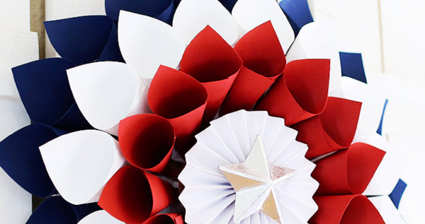 4th of July colorful wreath