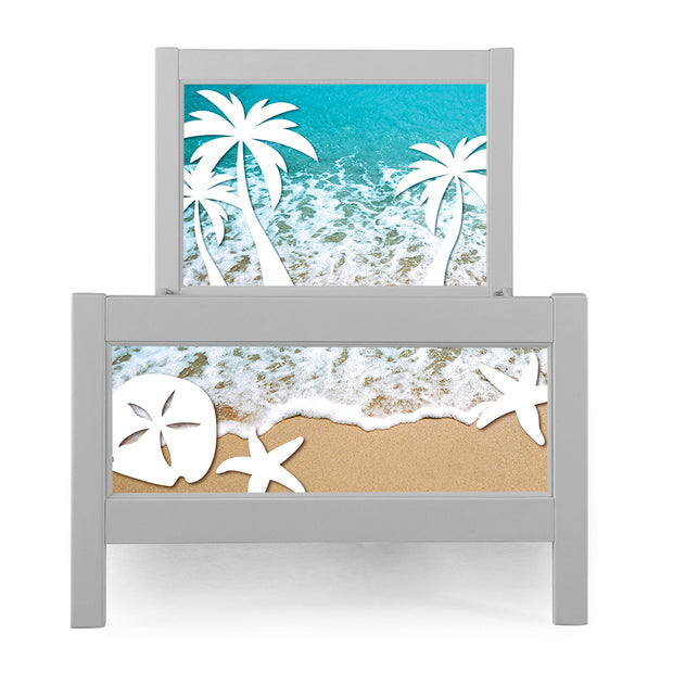 P'kolino Nesto Twin Bed - Grey - Beach Theme