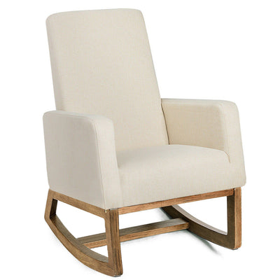 Mid Century Modern Rocking Chair - Beige