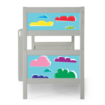 P'kolino Nesto Bunk Bed - Grey - Clouds