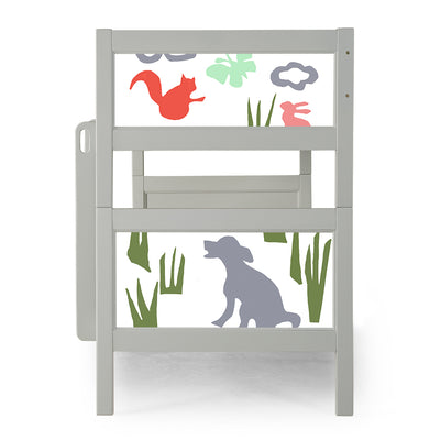 P'kolino Nesto Bunk Bed - Grey - Field Animals