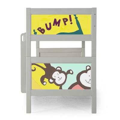 P'kolino Nesto Bunk Bed - Grey - Monkeys