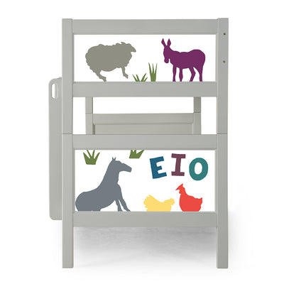 P'kolino Nesto Bunk Bed - Grey - Old McDonald
