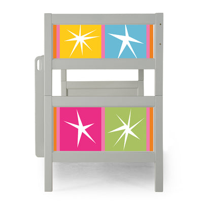 P'kolino Nesto Bunk Bed - Grey - Stars