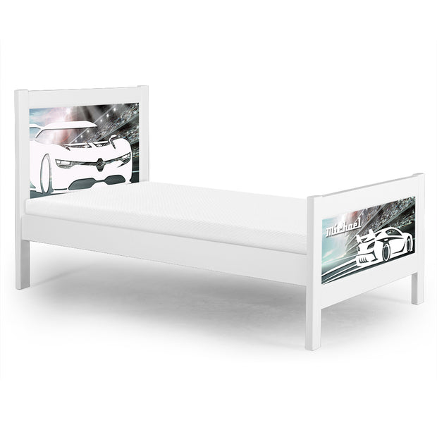 P'kolino Nesto Twin Bed White - Cars. The perfect bed for the car enthusiast in your home!