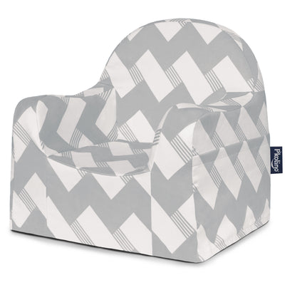 Little Reader Chair - Chevron Grey
