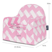 Little Reader Chair - Chevron Pink