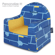 Little Reader Chair - Comic Book: Blue, Light Blue and Yellow