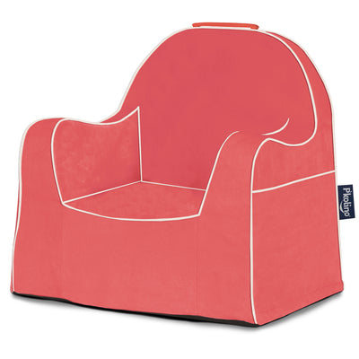 Little Reader Chair - Coral with White Piping