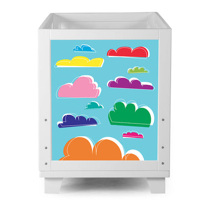Nesto Convertible Crib - White - Clouds