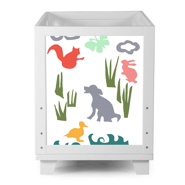 Nesto Convertible Crib - White - Field Animals