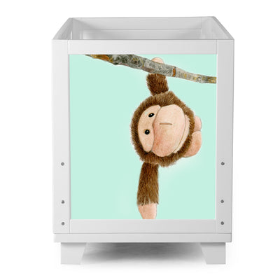 Nesto Convertible Crib - White - Baby Monkey