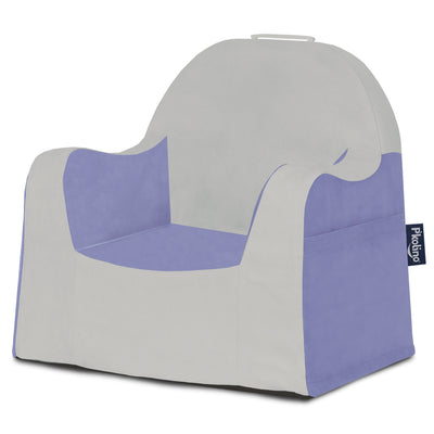 Little Reader Chair - Light Grey and Light Purple
