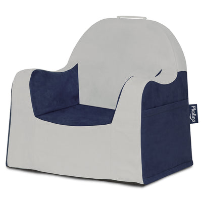 Little Reader Chair - Light Grey and Navy Blue