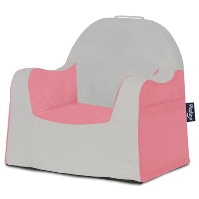 Little Reader Chair - Light Grey and Pink