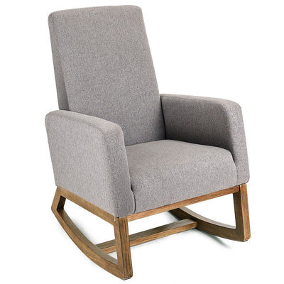 Mid Century Modern Rocking Chair - Grey