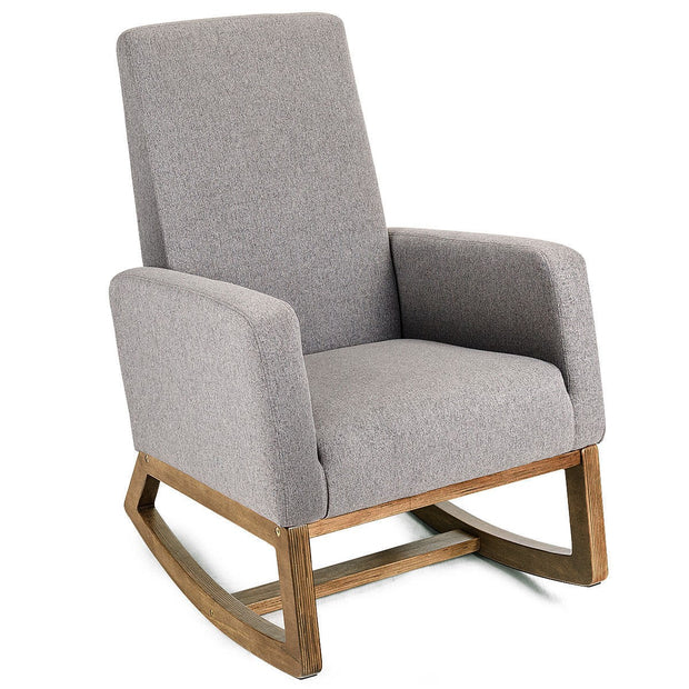 timeless design 763ed d4935 Mid Century Modern Rocking Chair - Grey